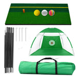 New 10 Foot (3M) Golf Net SET with Mat & Balls (2020)