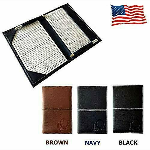 Golf Scorecard Holder Yardage Book - Leather Golf Scorebook - The Golfing Eagles