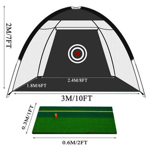 New 10 Foot (3M) Golf Net SET with Mat & Balls ($169 Sale) - The Golfing Eagles