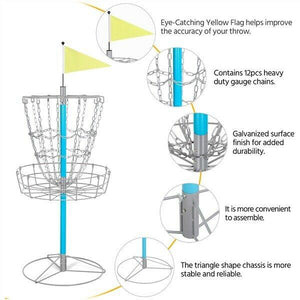 Disc Golf Basket Game - High-Quality Metal Frame & Galvanized Chains