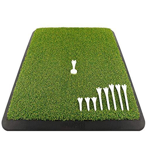 Premium Turf Golf Hitting Mat (9 Golf Tees & 1 Rubber Tee Included) - The Golfing Eagles