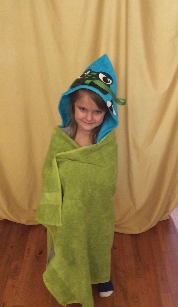 Boy Frog Hooded Towel