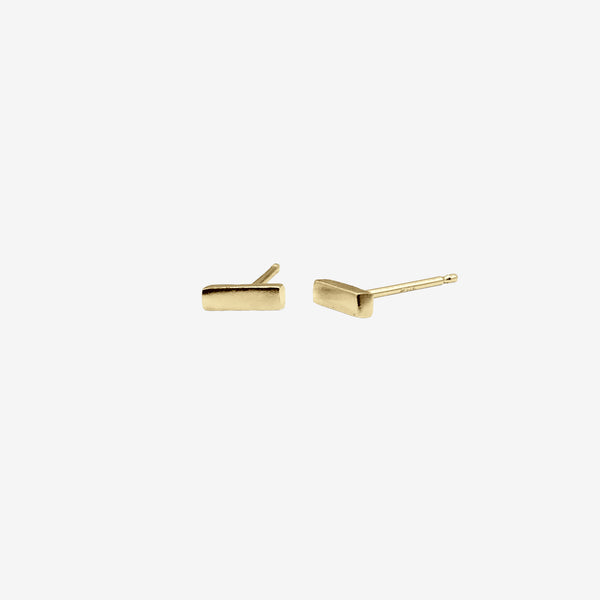 14k Gold Vermeil Strength Stud Earring crafted by women transitioning out of homelessness using 100% recycled metals