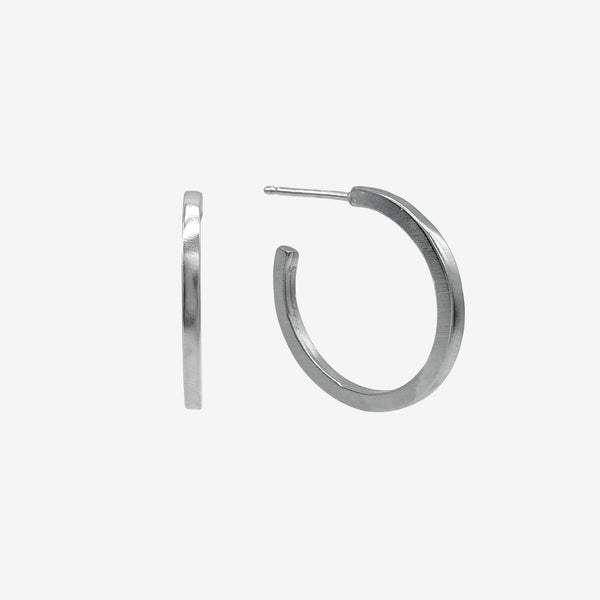 Sterling Silver Joy Hoop Earring crafted by women transitioning out of homelessness using 100% recycled metals