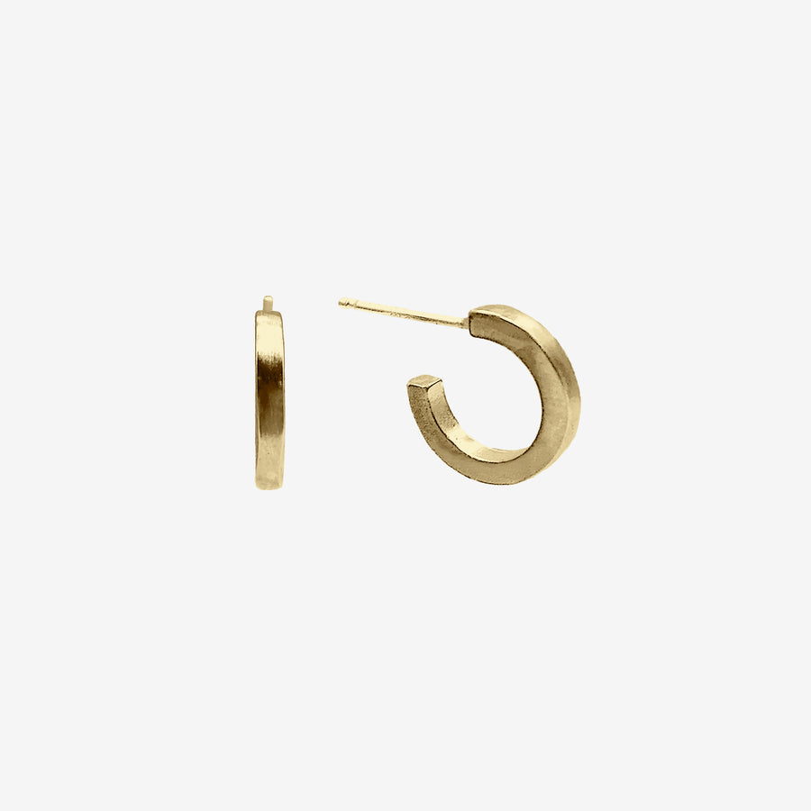 14k Gold Vermeil Joy Hugger Earring crafted by women transitioning out of homelessness using 100% recycled metals