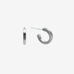Sterling Silver Joy Hugger Earring crafted by women transitioning out of homelessness using 100% recycled metals