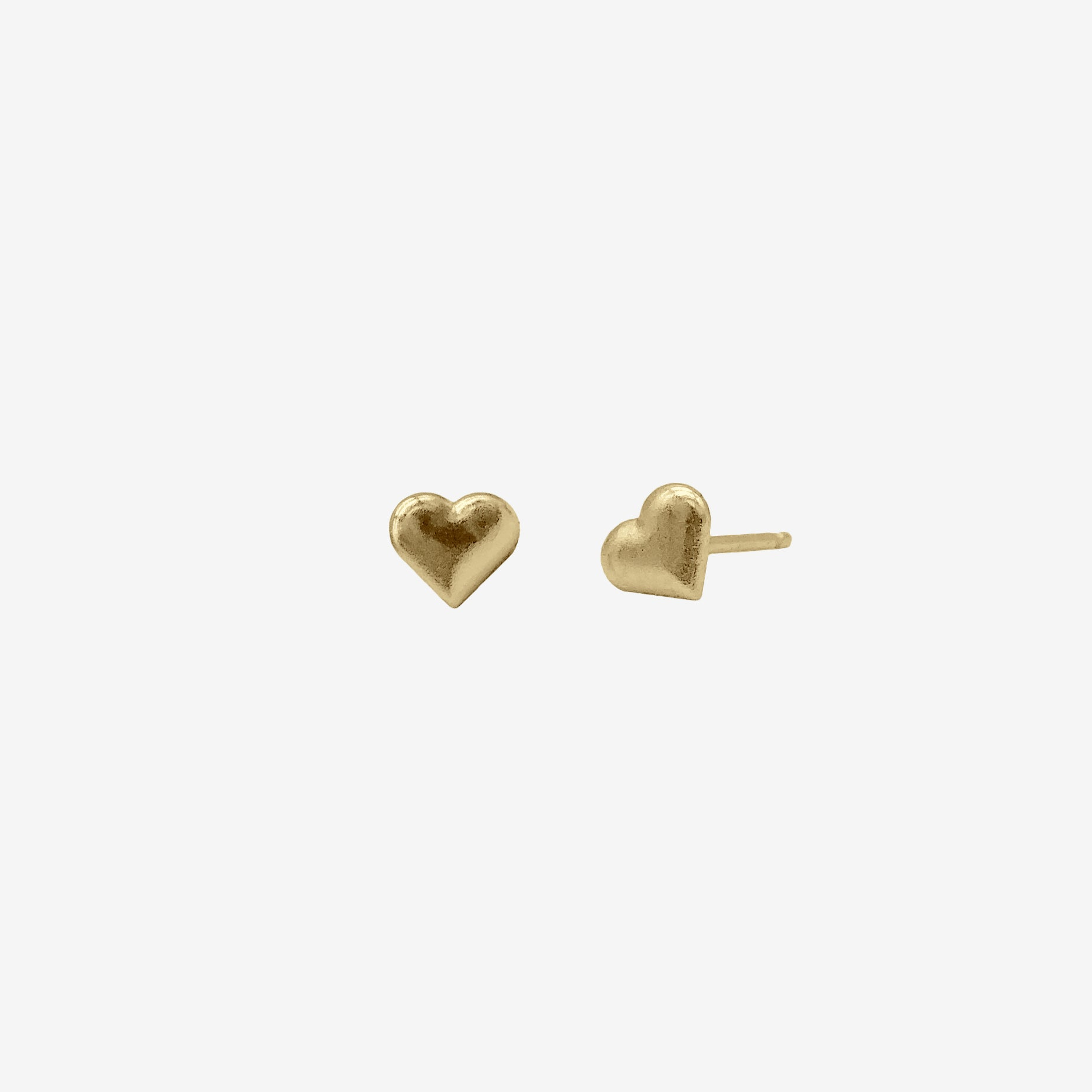 14k Gold Vermeil Heart Earring crafted by women transitioning out of homelessness using 100% recycled metals