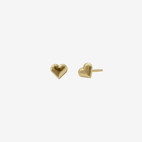 14k Gold Vermeil Love Studs Earring crafted by women transitioning out of homelessness using 100% recycled metals