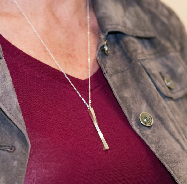 Resilience Necklace Necklace crafted by women transitioning out of homelessness using 100% recycled metals