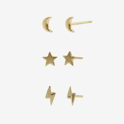 14K Gold Vermeil Studs Set package crafted by women transitioning out of homelessness using 100% recycled metals