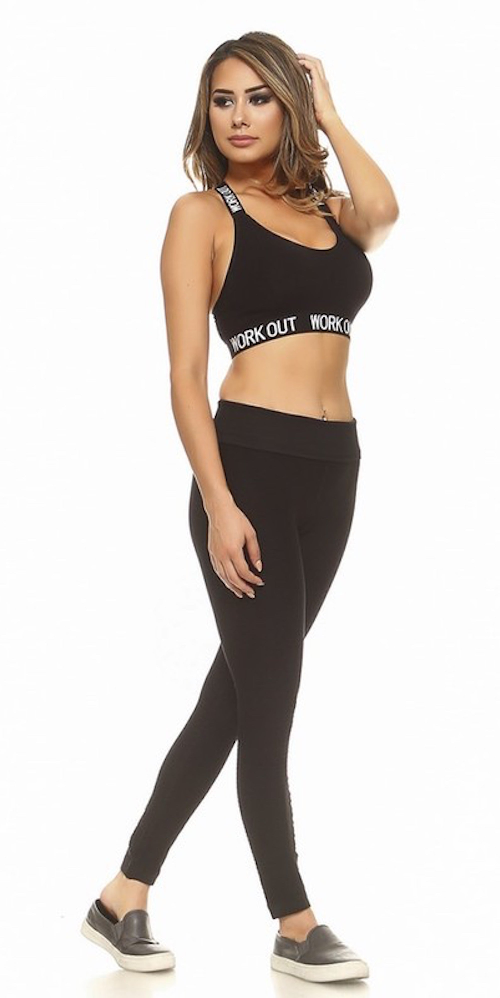 black sports bra trend style fashion clothing clothes