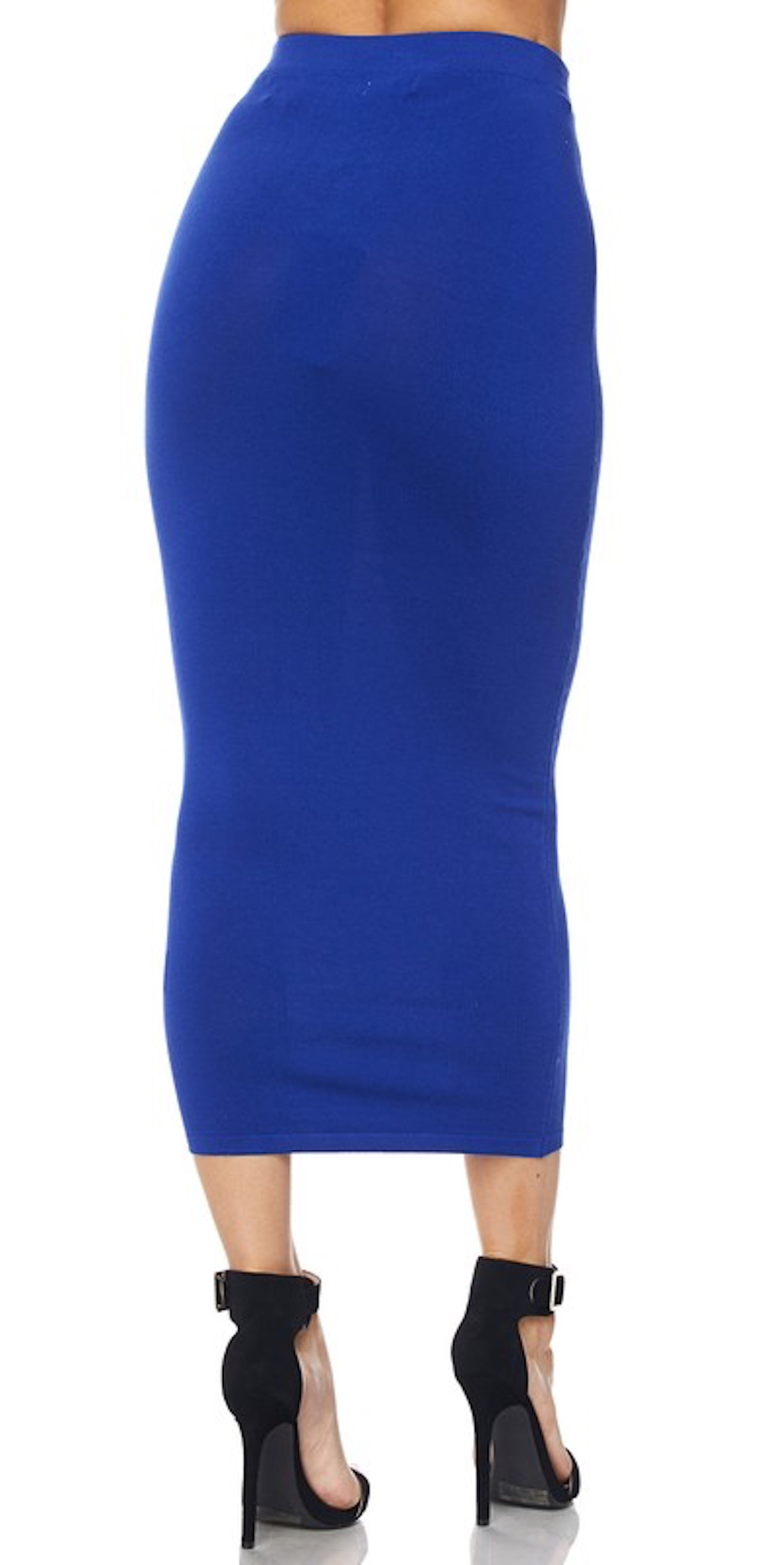 Royal Blue Long Pencil Skirt