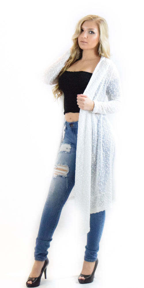 white cardigan jacket cover up long fashion style trend woman clothes clothing