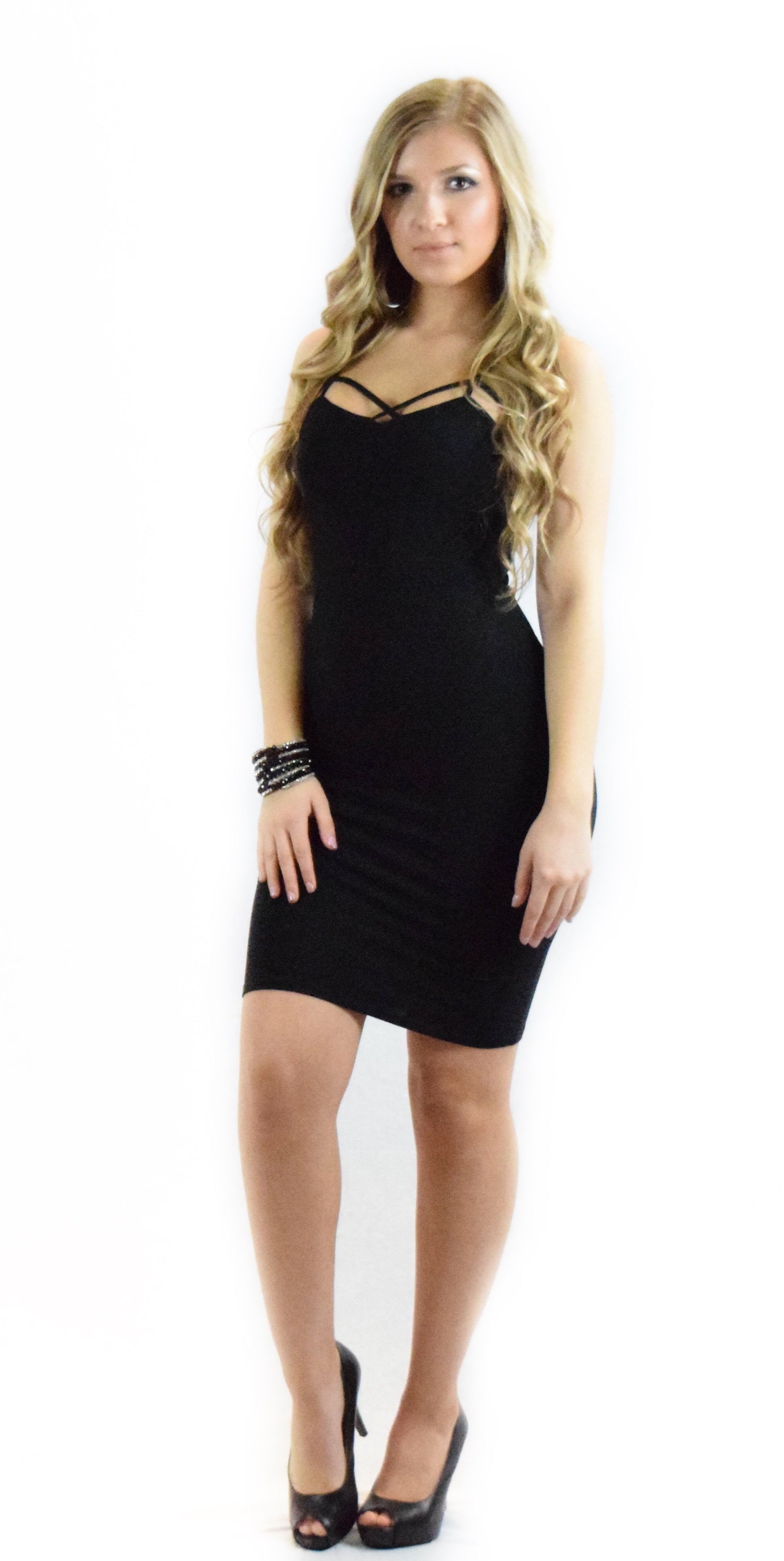 little black dress formal stay spaghetti form fitting curve hugging any occasion fashion clothing woman trending style