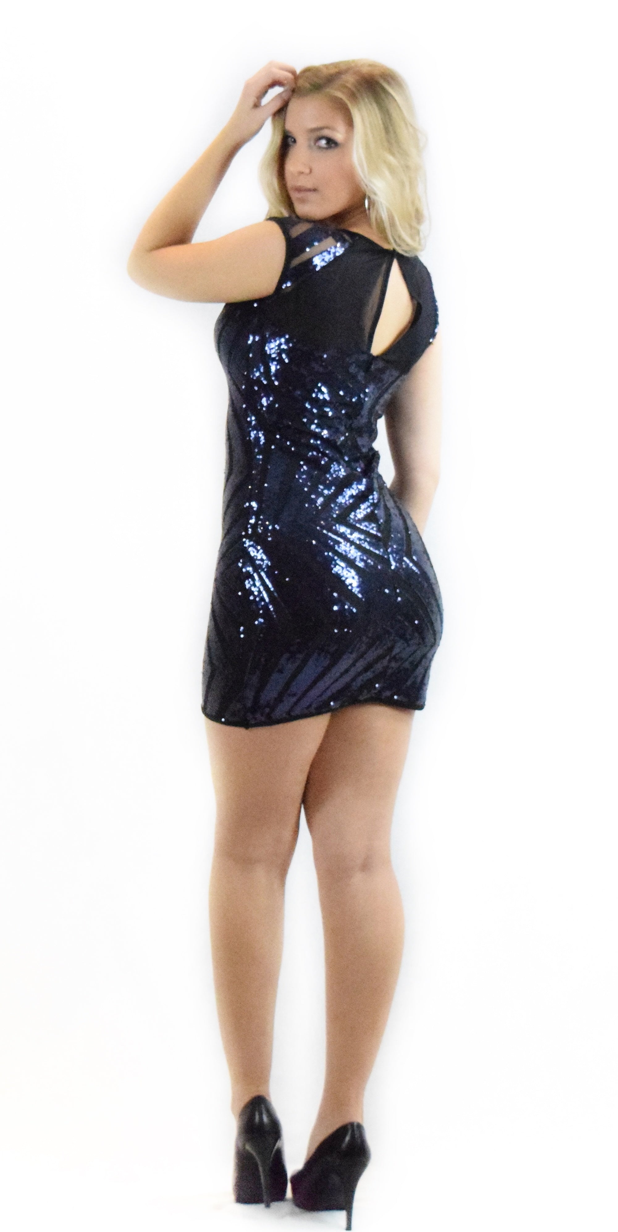Elegant Sequin Mesh Dress