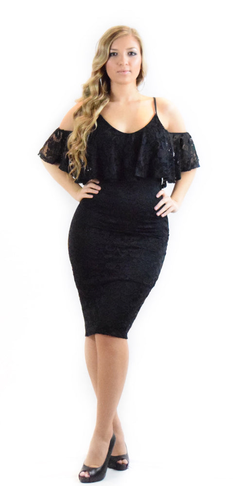 Solid Lace Bodycon