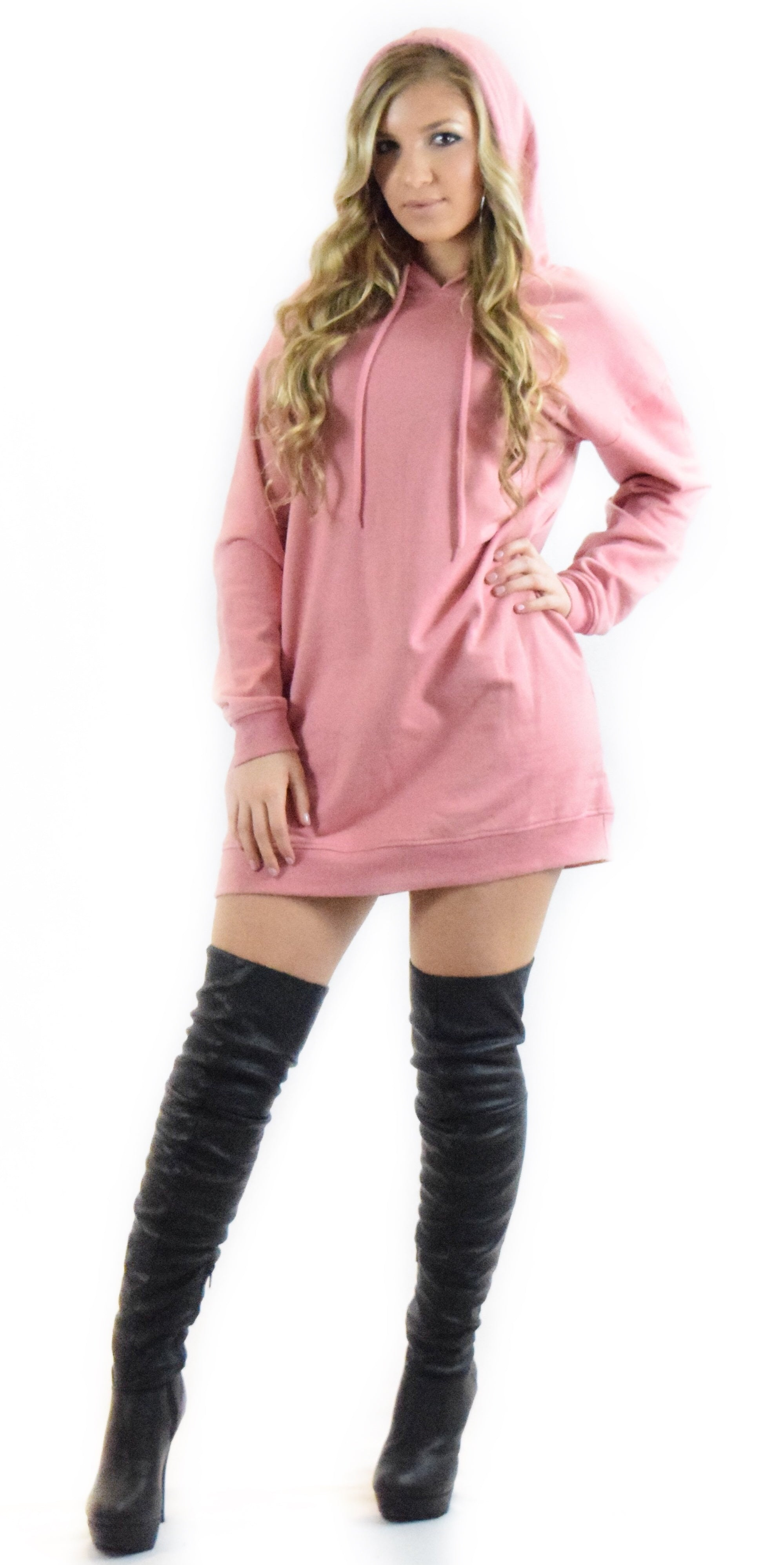 Dusty Rose Loose Fit Hoodie