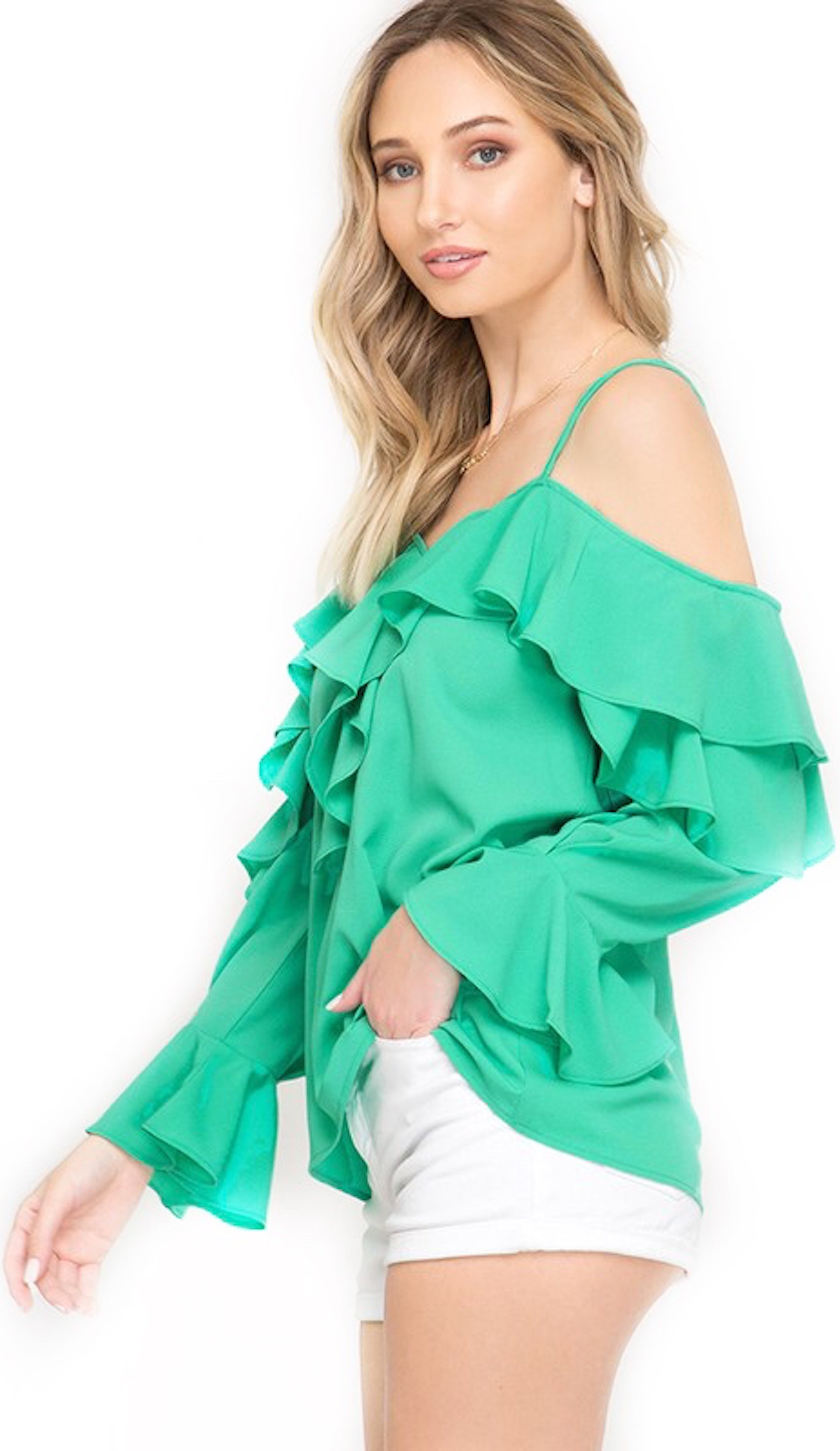 Jade Green Top