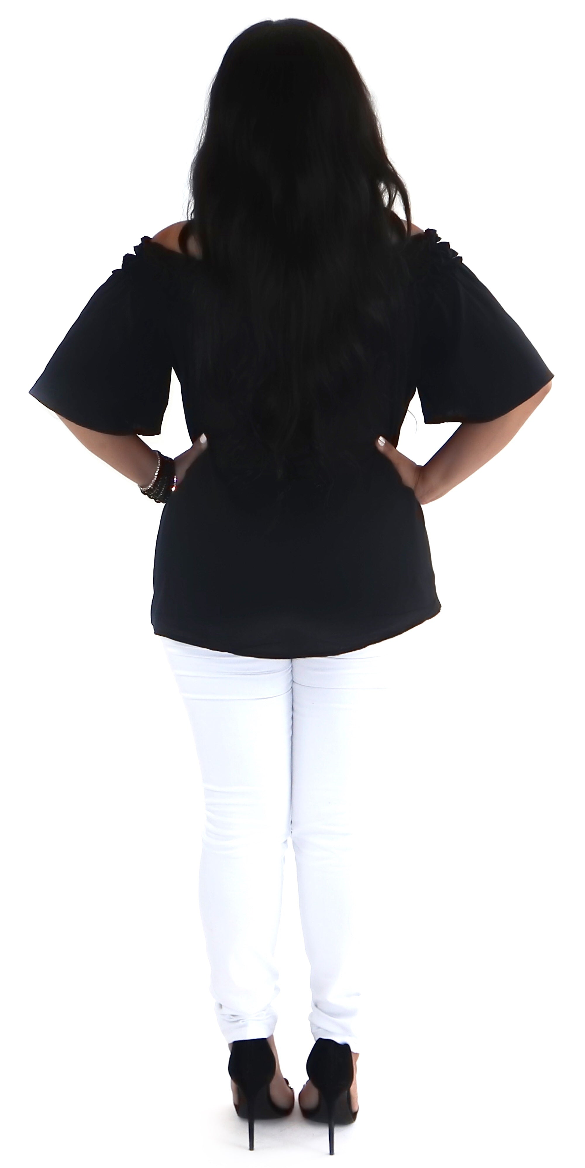 Ruched Off Shoulder Top
