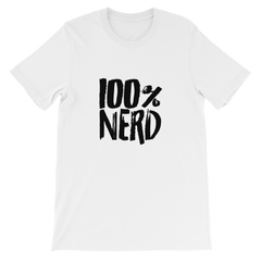 100% Nerd Short-Sleeve Unisex T-Shirt