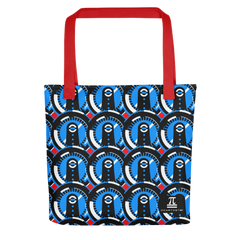 Aliens Patterned Blue Tote bag
