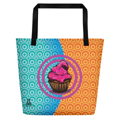 Cupcake Large Tote Bag