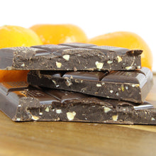 Mandarin Orange Dark Chocolate Bar with Crushed Almonds