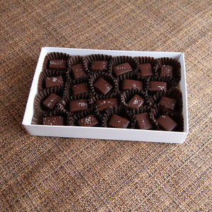 Sea Salted Dark Chocolate Caramels