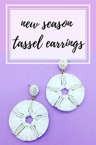 new season tassel earrings