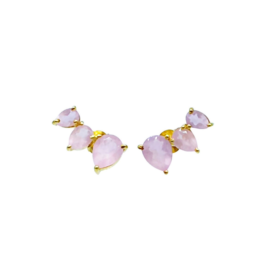 Alexa Earring - Rose Quartz