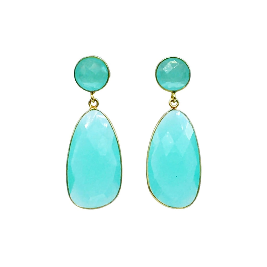 Athena Earring - Pale Aqua gemstone