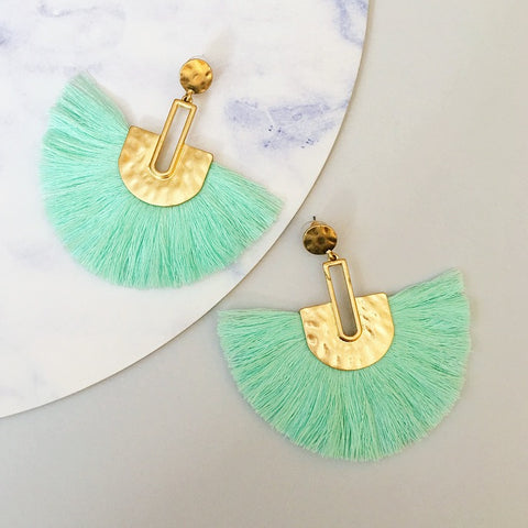 Bella Tassel Earring - Mint