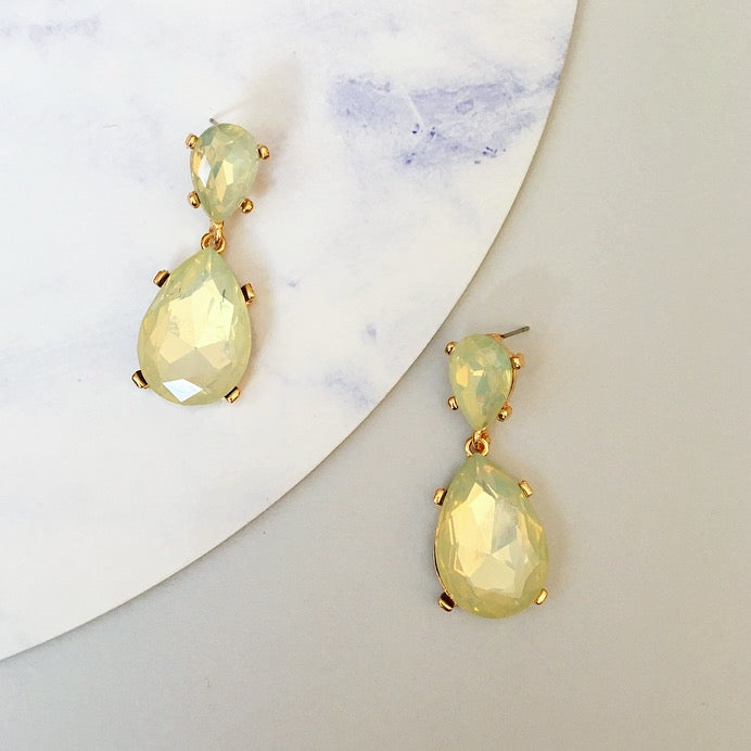 Jewel Drop Earring - Champagne
