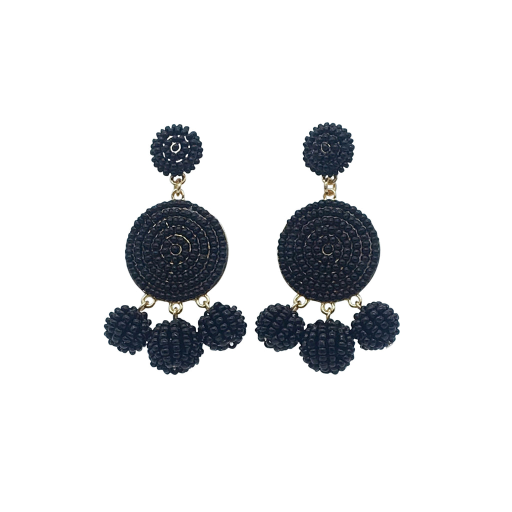 Lucia Earring black bead