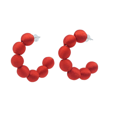 Rai Hoop Earring - Red