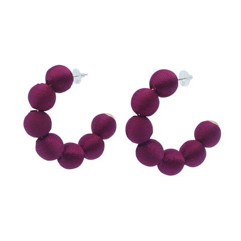 Rai Hoop Earring - Purple