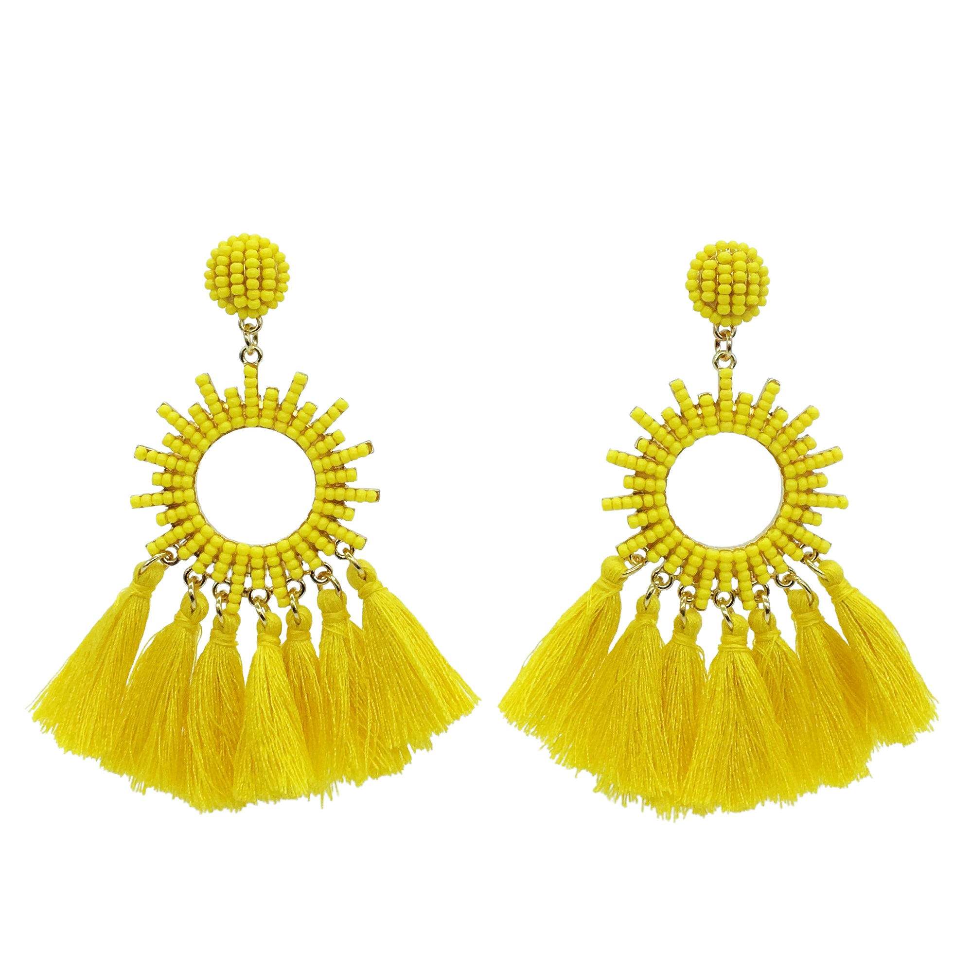 Ariel tassel Earring - Yellow