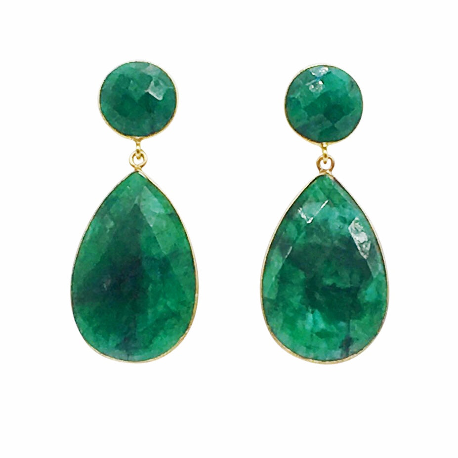 Sienna Earring - Dyed Emerald