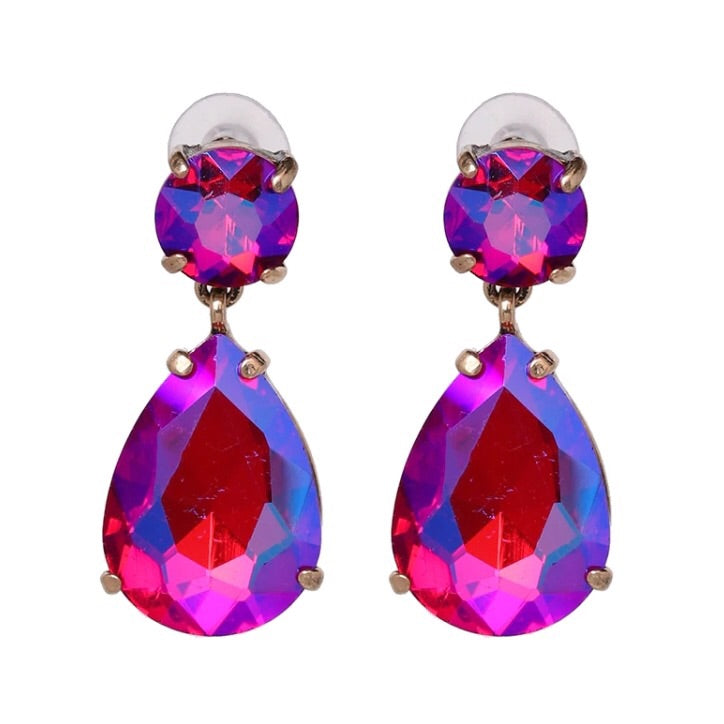 Enja Jewel Earring - Magenta