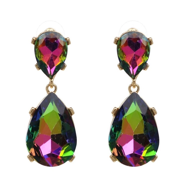 Jewel Drop Earring - Iridescent