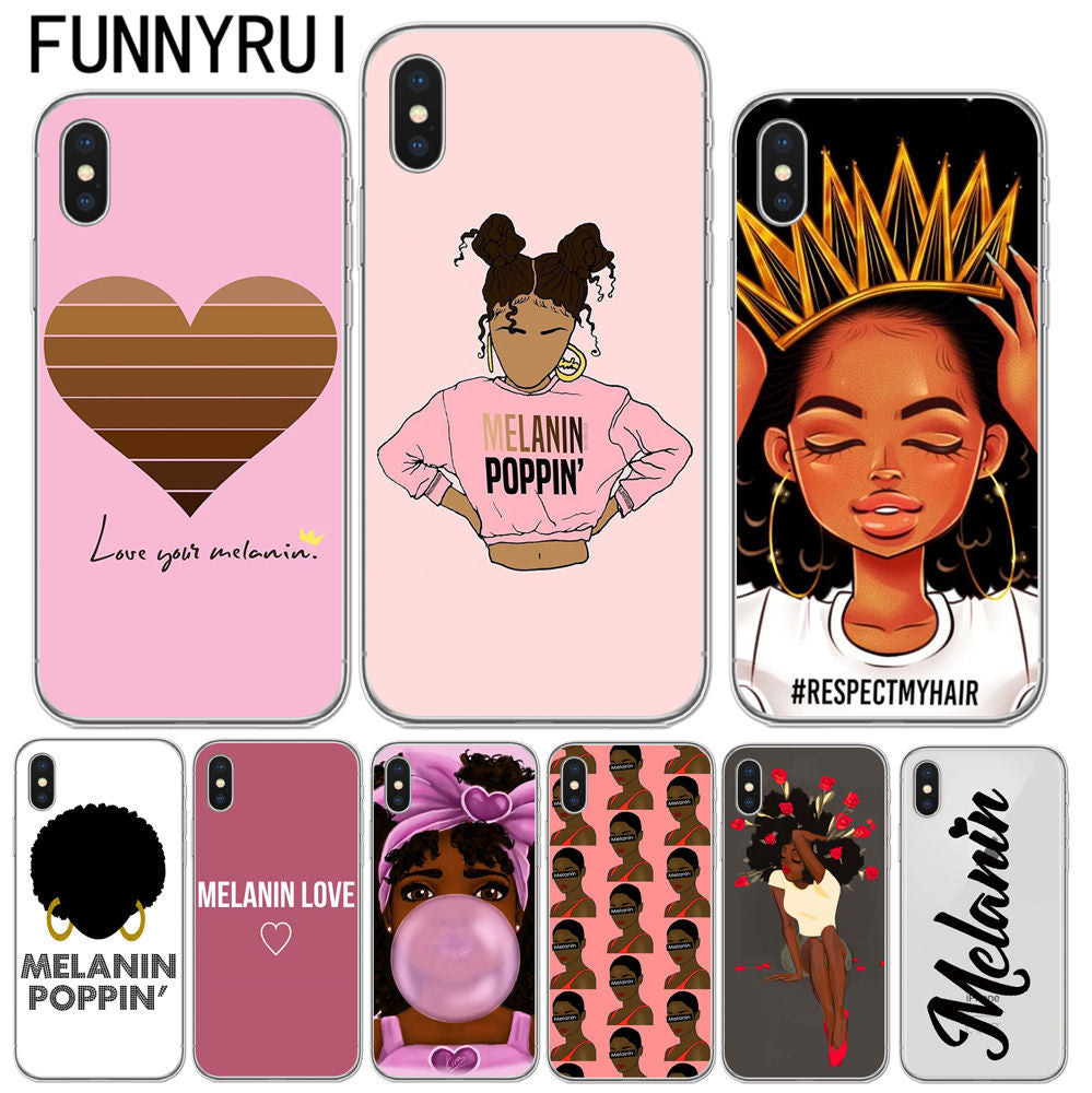 finest selection 49766 28374 Black Girl Magic Soft TPU Phone Cover For iPhone 5 5S SE 6 6S Plus 7 7 Plus  8 8 Plus