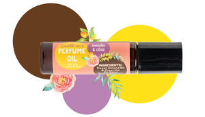 Lavender & Citrus Perfume Oil - Smell beautiful, naturally.