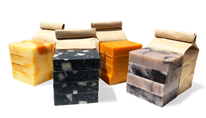 4-Pack Bulk Bags of Natural Soap from Biggs & Featherbelle®