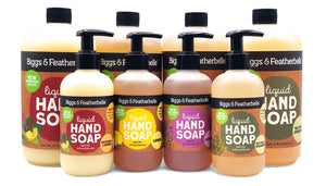 Group of 8 Liquid Soap bottles by Biggs & Featherbelle®
