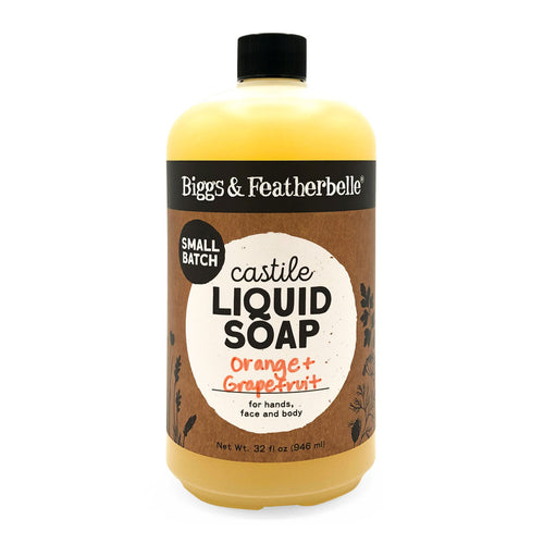 32oz Orange & Grapefruit Liquid Soap from Biggs & Featherbelle®