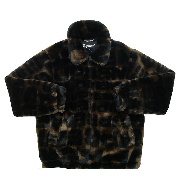 128666068 SUPREME 18 SS Faux Fur Repeater Bomber Jacket