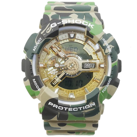 A BATHING APE 25 TH ANNIVERSARY EXCLUSIVE MODEL x G - SHOCK GA - 110 WATCH