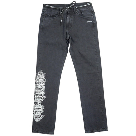 OFF WHITE 19SS GOTHIC SLIM BACK DART JEANS Pants