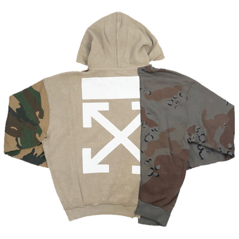 OFF WHITE 18AW RECONSTRUCTURED CAMO HOODIE