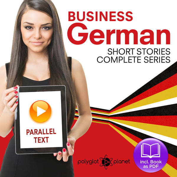 Business German Audiobook - Parallel Text - Complete Series [Audiobook + eBook] Part 1-4